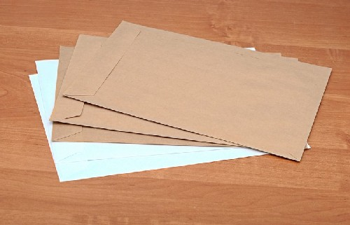 Remetente e destinatário envelope a4